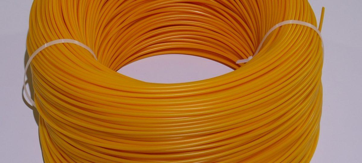 ПНД пруток 4 мм. желтый